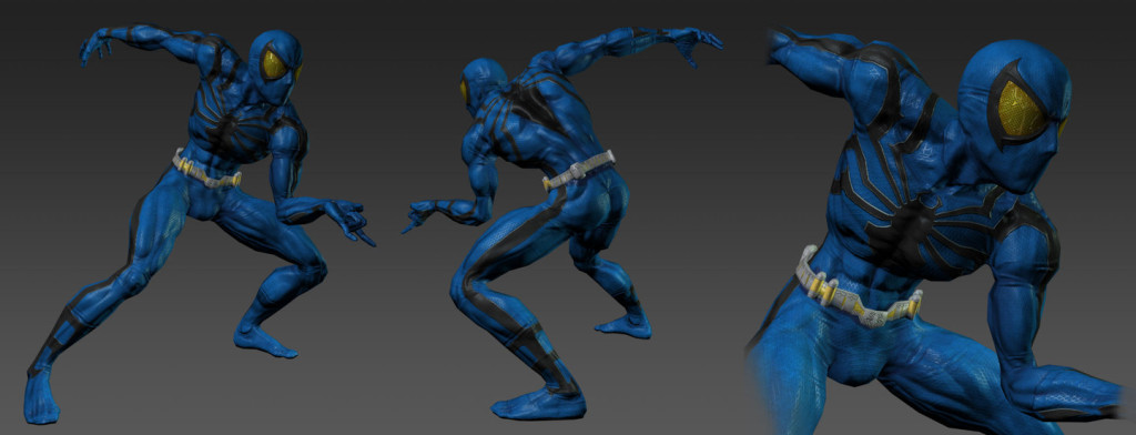 Spiderman Blue Model