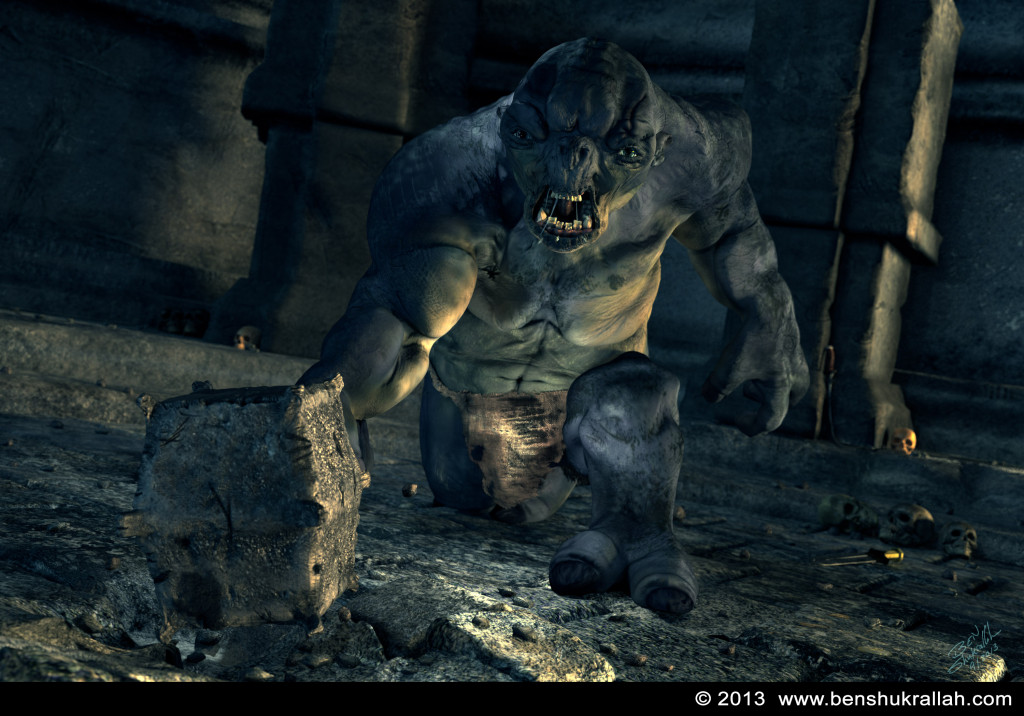 Cave Troll Lord of the Rings 3d model